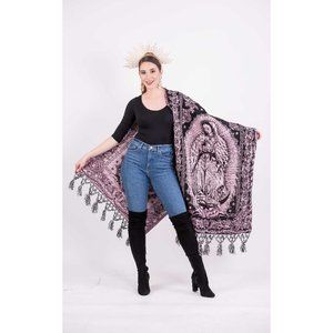 Mexican Our Lady of Guadalupe Baroque Shawl Scarf